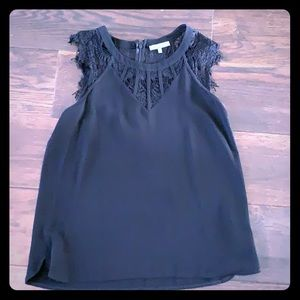 Briton ivy black lace top
